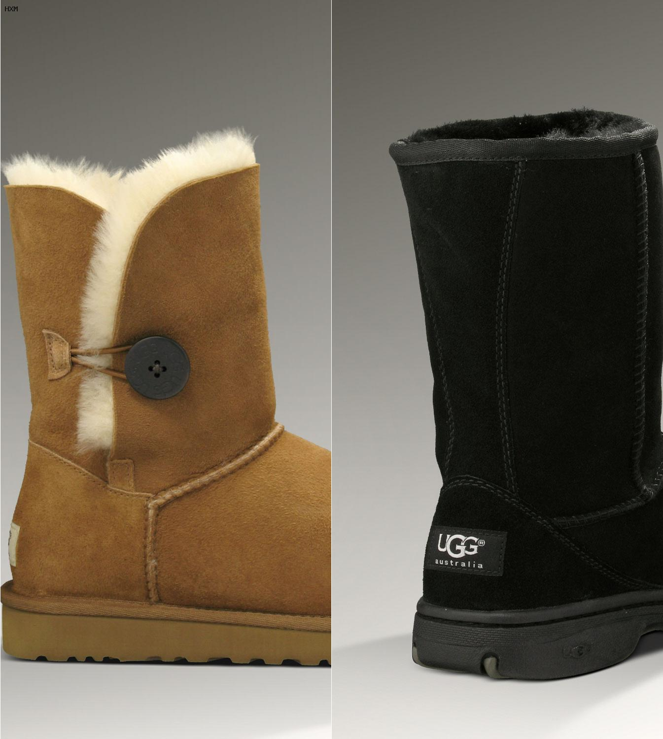 ugg mini bailey button schwarz 38